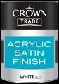 Crown Trade Acrylic Satin Finish White
