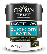 Crown Trade FastFlow Quick Dry Satin White