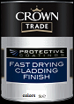crown trade p/c fast drying cladding finish colours