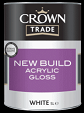 Crown Trade New Build Acrylic Gloss White