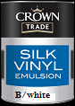 crown trade silk vinyl b/ white