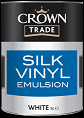 crown trade silk vinyl white