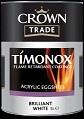 Crown Timonox Acrylic Eggshell B/ White