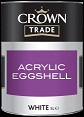 crown trade acrylic eggshell white
