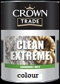 Crown Trade Clean Extreme Scrubbable Matt colours