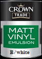 crown trade vinyl matt b/w