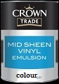 Crown Trade Mid Sheen Emulsion Colours