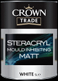 Crown trade Steracryl Mould Inhibiting Matt white